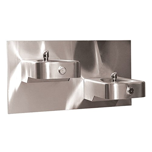 (Haws Dual Wall Mounted ADA Drinking Fountain)