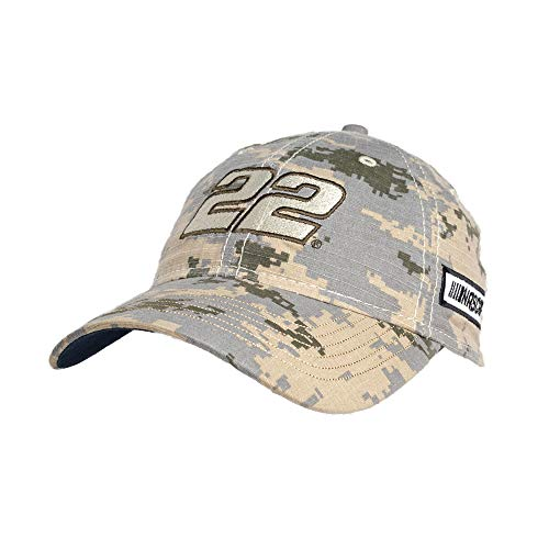 - NASCAR Penske Racing Joey Logano Mens Digital Camo CapDigital Camo Cap, Digital Grey/Sand, Adjustable