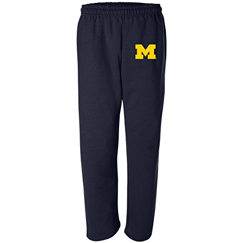 (AB02 - Michigan Wolverines Primary Logo Sweatpants - X-Large - Navy )