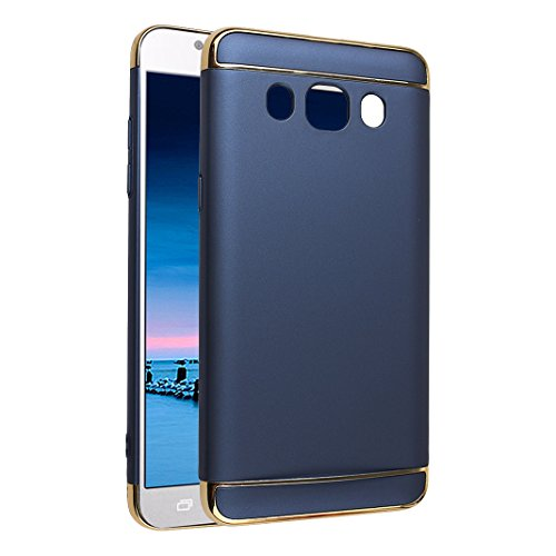Galaxy J5 2016 PC Funda, Galaxy J510 Trasera Carcasa, Galaxy J5 Back Case Cover, Moon mood® Color Sólido Duro PC Cáscara Caja de Teléfono Concha Galaxy J5 SM-J510 2016 5.2 pulgadas Anti-arañazo Celula B Azul