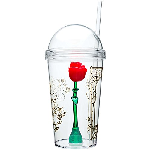 Zak Designs Disney Beauty And The Beast Enchanted Rose