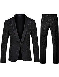 Men's 1 Button 2 Piece White Tuxedo Shawl Collar Skinny Dress