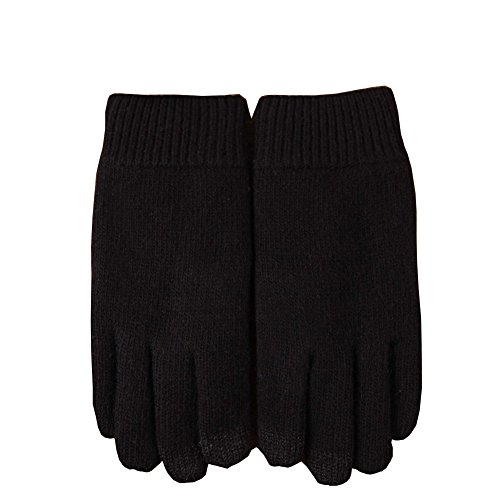 Men's Winter Soft Fleece Gloves Touch Screen Thick Knitted Warm Gloves