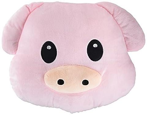 WEP Pig Piggy Emoji Pillow Smiley Emoticon Cushion Stuffed Colorful