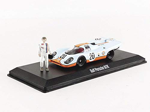 Gulf Oil - 1970 Porsche 917K with Steve McQueen Figure - Steve McQueen Collection (1930-80), Hollywood Series, Hobby Exclusive, True-to-Scale Detail, Limited Edition,