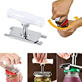 lotus.flower Adjustable Manual Opener, Stainless Steel Can Opener Helping Hand, Non-Slip Jar Openers, Opener Kitchen Gadgets (White)