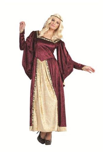 RG Costumes Women's Maid Marian, Burgundy, One Size ()