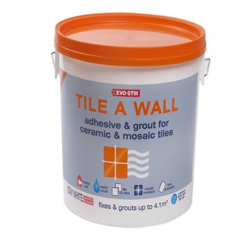 Ceramic Mosaic Wall - Evo-Stik Tile A Wall Adhesive & Grout for Ceramic & Mosaic Tiles 500ml EVO416505