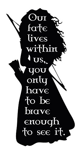 Kids Personalized Full Headboard (Personalized Wall Decal for Girls Room - Merida Heroine from Brave Movie -