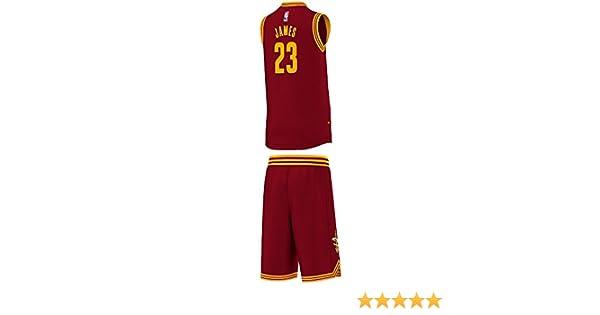 adidas Cleveland Cavaliers Mini Kit - Camiseta para hombre, color rojo / amarillo / blanco, talla 128: Amazon.es: Deportes y aire libre