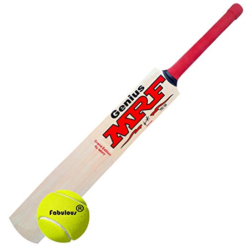 MRF Genius Virat Kohli Popular Willow Cricket Bat with Ball