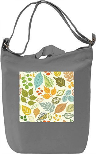 Autmn Nature Flowers Pattern Borsa Giornaliera Canvas Canvas Day Bag| 100% Premium Cotton Canvas| DTG Printing|