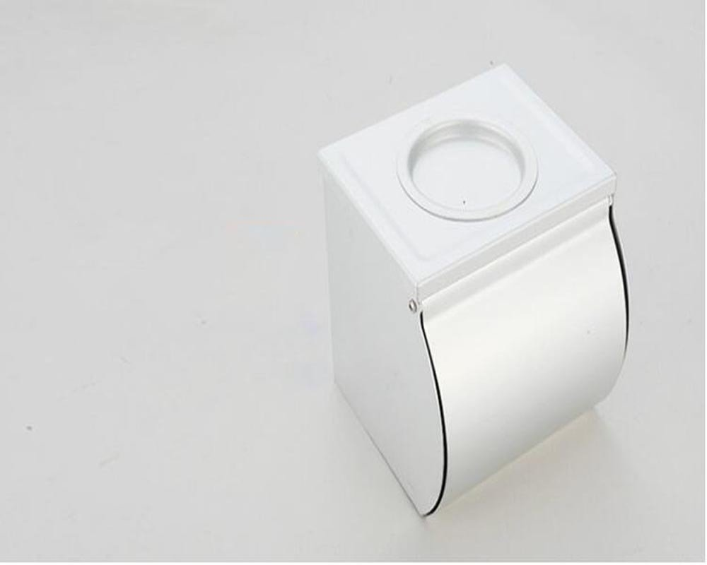 NHGY Toilet Paper Towel Box, Space Aluminum Waterproof Belt Ashtray