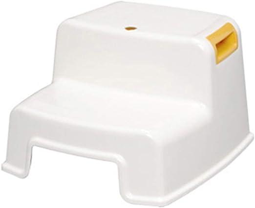 YQCSLS Taburete infantil de 2 escalones, Escalera de plástico resistente para uso en lavamanos y entrenamiento para el baño, Taburete de baño y cocina para niños pequeños, Taburetes de peldaños para n: