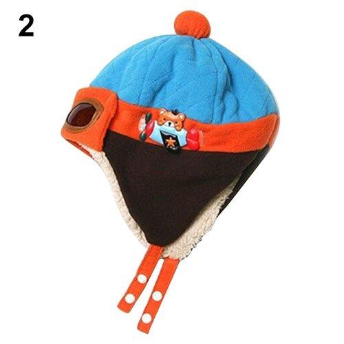 Yinpinxinmao Winter Baby Warm Soft Beanie Hat Earflap Toddler Kids Pilot  Aviator Cap 57bf73d2e3a3