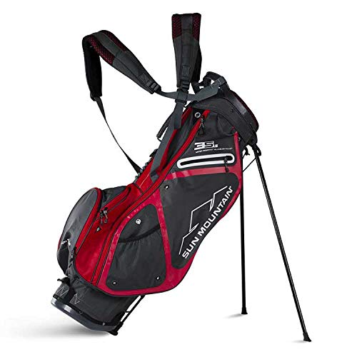 Sun Mountain Golf 2018 3.5 LS Stand Bag GNMTL-RED (Gunmetal/Red) For Sale