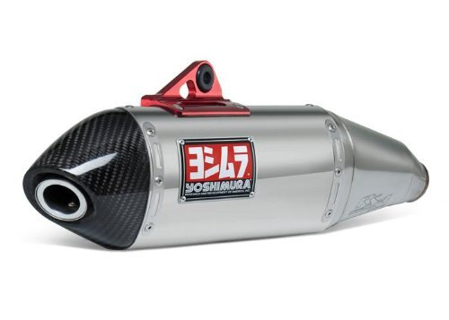 08-18 YAMAHA WR250R: Yoshimura RS-4 Slip-On Exhaust (Race/Stainless Steel With Carbon Fiber End -