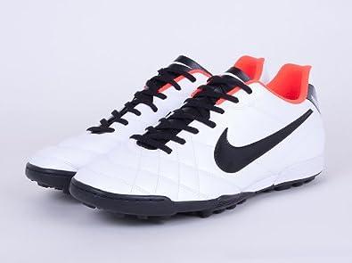 023862b4f0b8 Nike Tiempo Rio Tf Astro Turf Football Trainers White Crimson (509040 108)  (UK