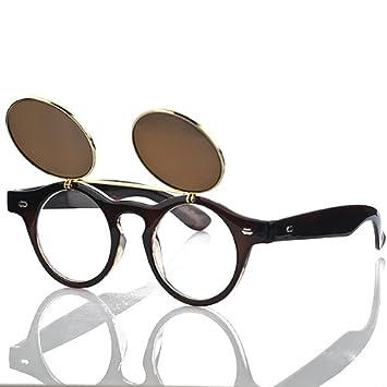 Steampunk Rétro Cercle à rabat en Lunettes de soleil Vintage Double housse à clapet Lunettes de lunettes de natation noir Noir taille unique kpiO2hTbYQ