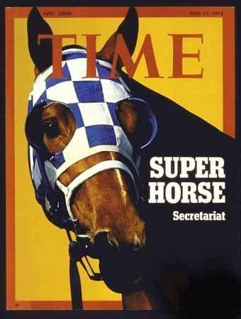 Photo TIME Magazine Cover Super Horse Secretariat 1973 Photographic Archives