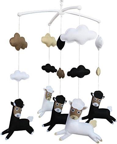 ミュージカルモバイルベビーハンギングベル幼児ルーム装飾おもちゃ、動物タイプ、E03