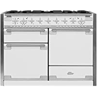 AGA AEL48DF-WHT Elise Dual Fuel Range with 3 Separate Ovens, 48, White
