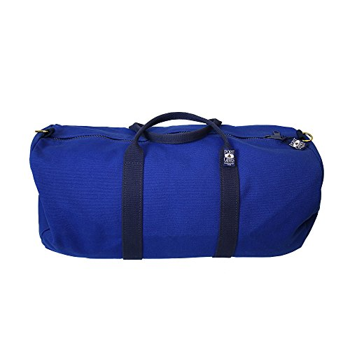 Handmade Heavy Duty Canvas Sailor Duffel Sports Bag By PORT CANVAS- Canvas, One At A Time in Maine, USA - Navy Blue made in Maine