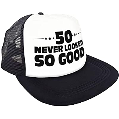 50 Never Looked So Good Hat - Happy 50th Birthday Party Supplies, Ideas and Decorations - Funny Birthday Black