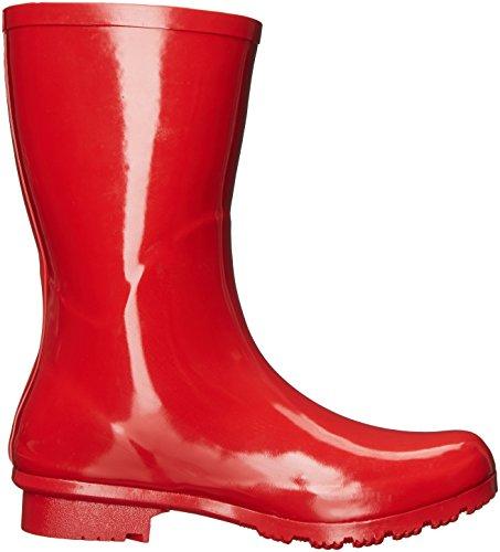 Roma Boots Da Donna Emma Mid Rain Boots Rosso
