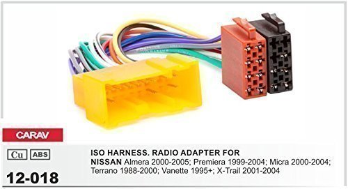 Carav Autoradio 12-018 ISO Cavo adattatore per NISSAN Micra Dennis Trail