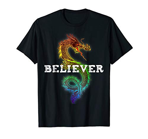 Fantasy Dragon Believer IMAGINE T-Shirt For Dragons ()