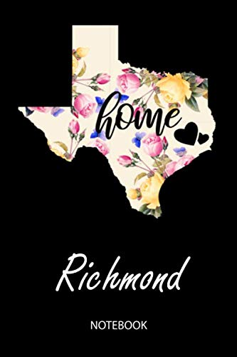 Home - Richmond - Notebook: Blank Personalized Customized City Name Texas Home Notebook Journal Dotted for Women & Girls. TX Texas Souvenir, ... / Birthday & Christmas Gift for Women.