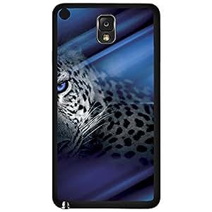 Cheetah Animal Art with Blue Eyes Hard Snap on Phone Case (Note 3 III)