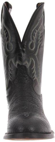 Tony Lama Boots Mens Bullhide Ct2036 Boot Nero Toro / Bambino Nero