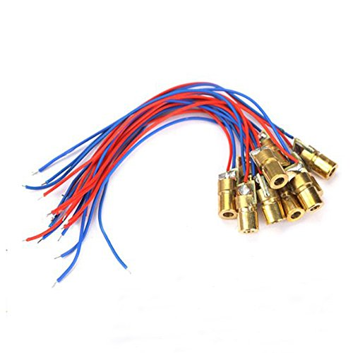 Laser Head Diode Dot Module WL Red mini 650nm 6mm 3V 5mW 10PCS