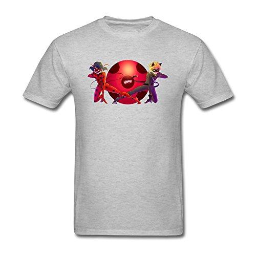 SDAKGF Men's Miraculous Ladybug Art T Shirt XXL