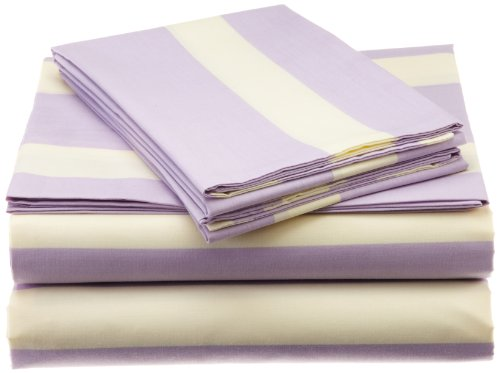 (Teen Vogue Lilac Watercolor Floral Queen Bed Sheet Set)