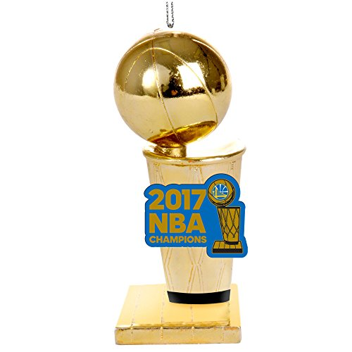 FOCO Golden State Warriors 2017 NBA Champions Trophy Ornament by FOCO