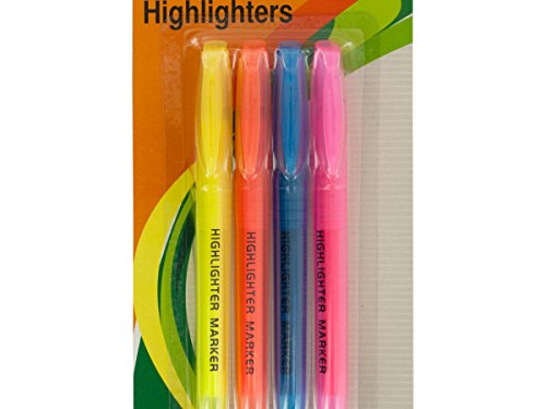 Quick-Drying Chisel Tip Highlighters Set - Pack of 72 by bulk buys (Image #1)