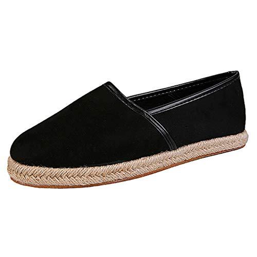 SUNyongsh Women's Ladies Leopard Shoes Casual Roman Plus-Size Flat Casual Pumps Shoes Black