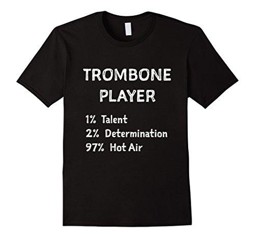Trombone Marching Band - Mens Marching Band TromboneFunny Shirt Medium Black