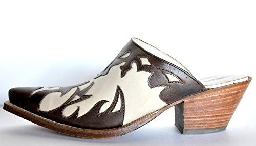Handmade Tony Mora Mules Pantoletten Savoy Beige / Marron 5 cm.