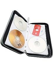 Watruer CD Case,DVD Storage DVD Case Holder VCD Wallet Organizer Protective Hard Plastic Portable Case
