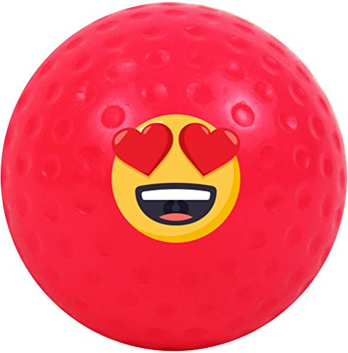 4Winners Single Dimple Heart Eyes Emojicon Field Hockey Ball (Pink) -