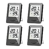 Best Indoor Thermometers - SXCD 4 Pack Digital Hygrometer Indoor Thermometer, Humidity Review