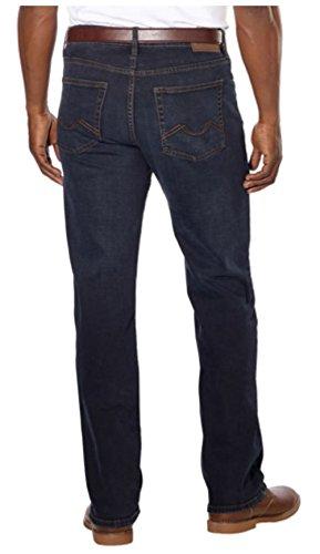 Urban Star Men's Relaxed Fit Straight Leg Jeans (40 x 30, Dark Blue)