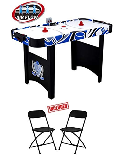 48 Inch Air Powered Hockey Table with LED Scorer, Real Air Flow, Easy Assembly, Accessories Included, - Air 48 Hockey