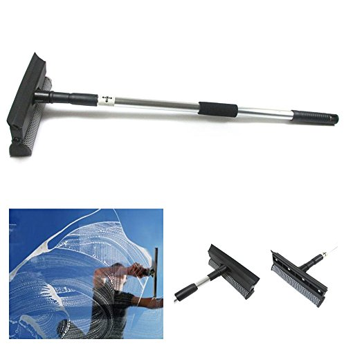 Telescopic Extendable Window Squeegee Cleaner Wiper Long Handle Washer Scrubber (Window Handle Squeegee)