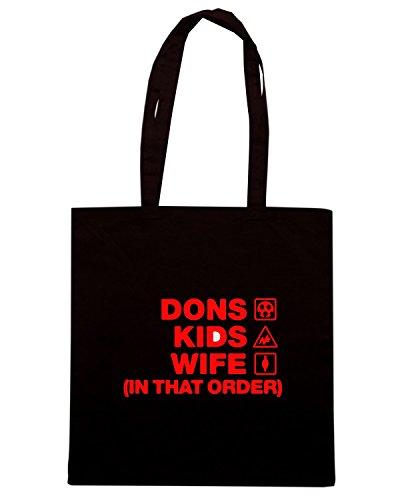 T-Shirtshock - Bolsa para la compra WC1108 aberdeen-dons-kids-wife-order-tshirt design Negro