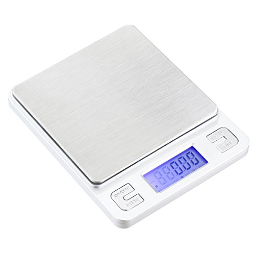 TBBSC B014ZVCELM Digital Weigh Scale High Precision Jewelry Pocket Food Kitchen Scale-500gx0.01g
